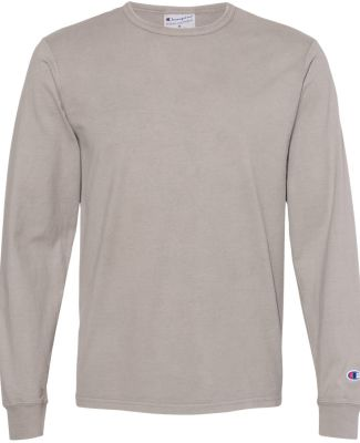 Champion Clothing CD200 Garment Dyed Long Sleeve T Concrete