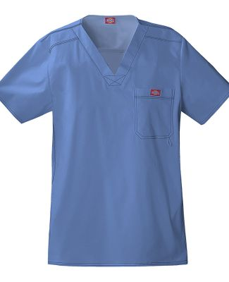 Dickies Medical 81722 - Men's V-Neck Top Blue Fog