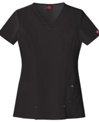 Dickies Medical 82851 - Women's Junior V-Neck Top Black