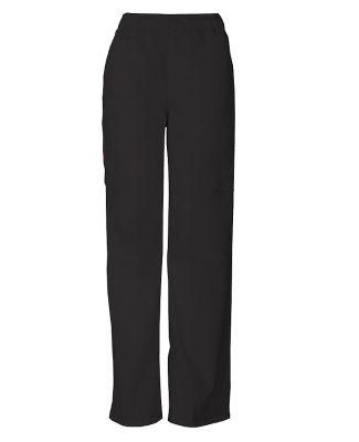 Dickies Medical 81006 -Men's Zip Fly Pull-On Pant Black