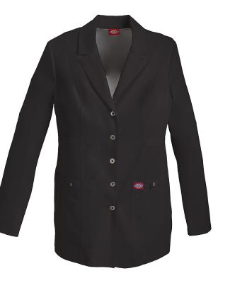 Dickies Medical 82400 - Women's 28-Snap Front Lab  Black