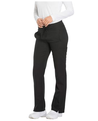 Dickies Medical DK130 - Mid Rise Straight Leg Draw Black