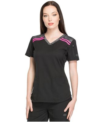 Dickies Medical  DK740   - V-Neck Top Black