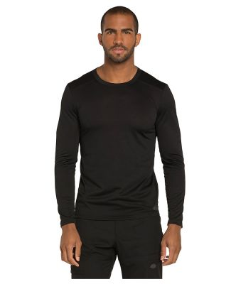 Dickies Medical DK900 - Men's Long Sleeve Underscr Black