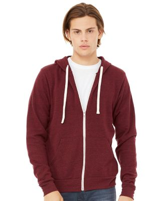 BELLA+CANVAS 3909 Unisex Tri-blend Sponge Fleece Zip-up Hoodie Catalog