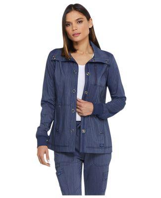 Dickies Medical DK325 - Women's Snap Front Jacket D Navy Twist
