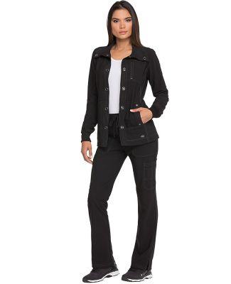 Dickies Medical DK345 -  Snap Front Jacket Black