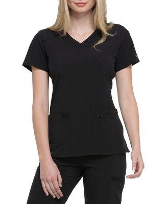 Dickies Medical  DK625   - Mock Wrap Top Black