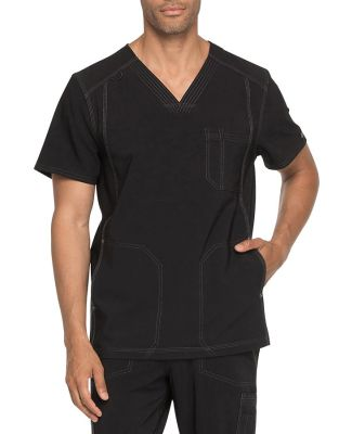 Dickies Medical  DK750   - Men's V-Neck Top Black