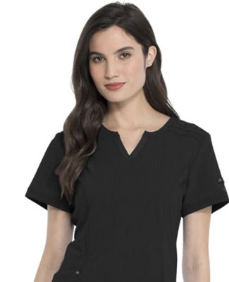 Dickies Medical DK785 -Shaped V-Neck Top Black
