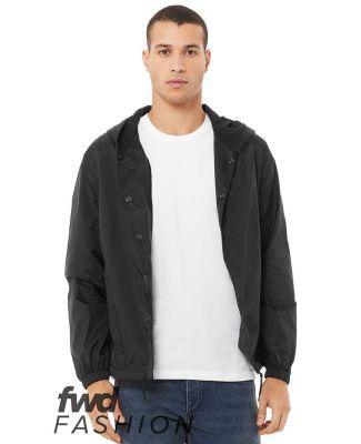 Bella + Canvas 3955 Fast Fashion Hooded Coach's Ja BLACK