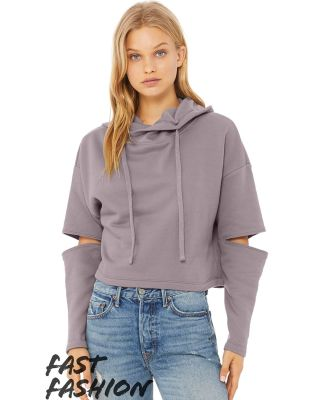 Bella + Canvas 7504 Fast Fashion Women's Cut Out Fleece Hoodie Catalog