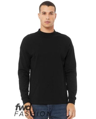Bella + Canvas 3520 Fast Fashion Unisex Mock Neck  BLACK