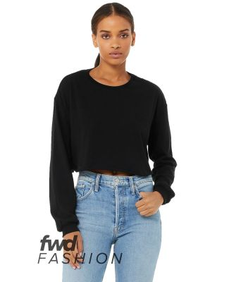 Bella + Canvas 6501 Fast Fashion Women's Cropped Long Sleeve Tee Catalog