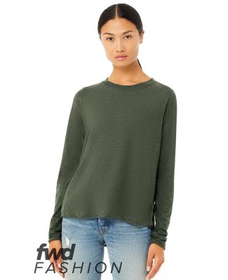 Bella + Canvas 8450 Fast Fashion Women's Side Slit Long Sleeve Tee Catalog