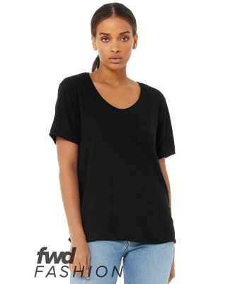 Bella + Canvas 8818 Fast Fashion Women's Flowy Poc BLACK