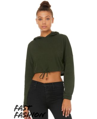 Bella + Canvas 6512 Fast Fashion Women's Cinched Cropped Hoodie Catalog