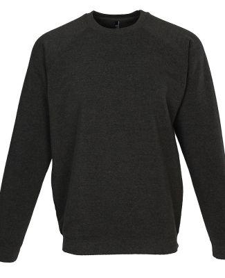 Ei-Lo 9382 - Unisex Premium Fleece Crew Black Heather