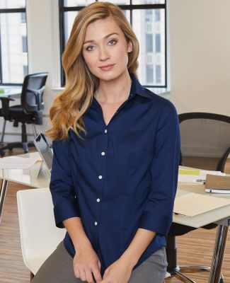Van Heusen 13V0527 Women's Three-Quarter Sleeve Baby Twill Shirt Catalog