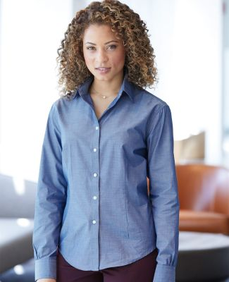 Van Heusen 13V0466 Women's Chambray Spread Collar Shirt Catalog