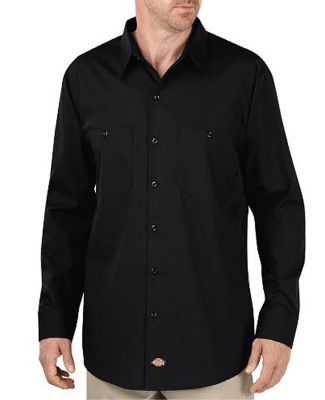 Dickies LL516 Unisex Industrial WorkTech Long-Slee BLACK