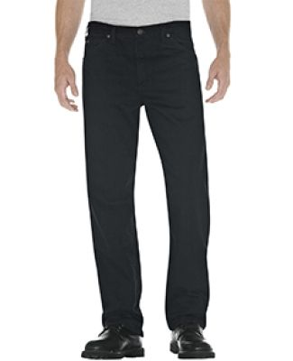Dickies 13292 Unisex Relaxed Straight Fit 5-Pocket RNS OVRDY BLK _30