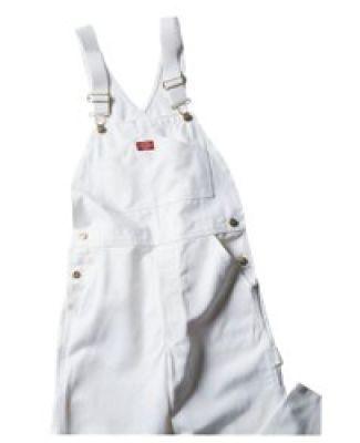 Dickies 8953WH Unisex Painters Bib Overall WHITE _30