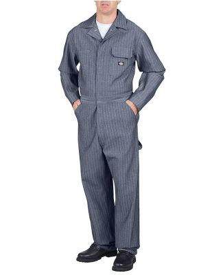 Dickies 48977T Unisex Tall Cotton Coverall - Fishe FISHER STRIPE