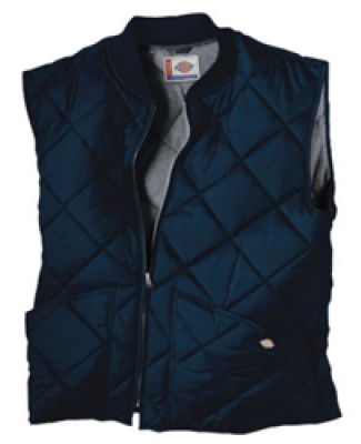 Dickies TE242 Unisex Diamond Quilted Nylon Vest DARK NAVY