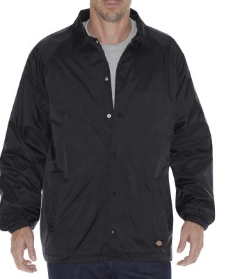 Dickies 76242 Unisex Snap Front Nylon Jacket BLACK
