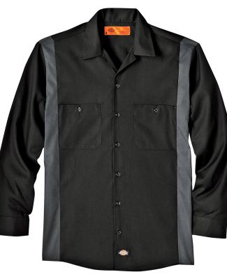 Dickies LL524T 4.5 oz. Industrial Long-Sleeve Colo BLACK/ CHARCOAL