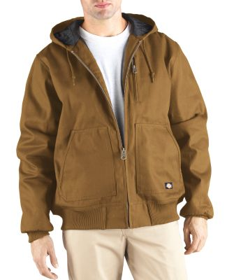 Dickies TJ718T 10 oz. Rigid Duck Hooded Jacket BROWN DUCK