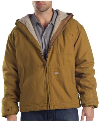 Dickies TJ350T 8.5 oz. Sanded Duck Sherpa Lined Ho BROWN DUCK