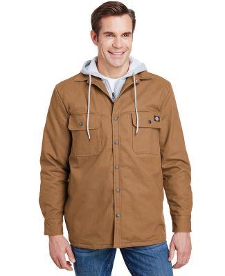 Dickies TJ203 Men's Hooded Duck Quilted Shirt Jack BROWN DUCK
