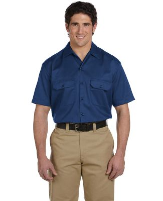 Dickies 1574T Unisex Tall Short-Sleeve Work Shirt NAVY