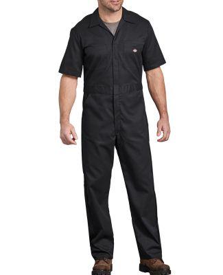 Dickies 33274 Men's FLEX Short-Sleeve Coverall BLACK _S