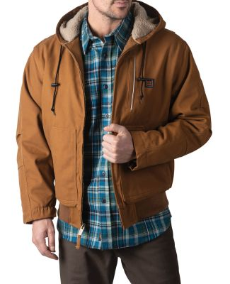 Dickies YJ839 Men's Mingus DWR Duck Hooded Bomber  PECAN