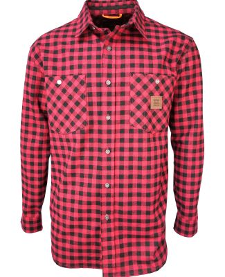 Dickies YL828 Men's Thurber Vintage Plaid Shirt BFLO PLD CHRY RD
