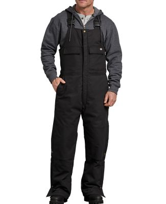 Dickies TB576 Men's FLEX Sanded Duck Insulated Bib BLACK _M