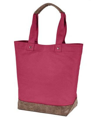 Authentic Pigment AP1921 Canvas Resort Tote CHILI/ BROWN