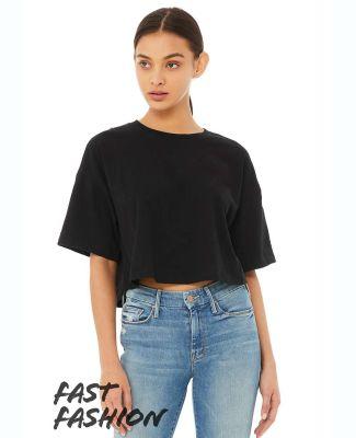 Bella + Canvas 6482 Fast Fashion Women's Jersey Cr BLACK