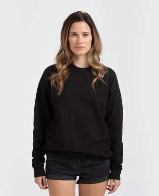 Tultex 340 - Unisex Fleece Crew Black