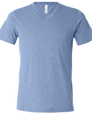Bella + Canvas 3415 Unisex Triblend V-Neck Short S BLUE TRIBLEND