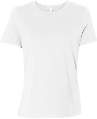 Bella + Canvas 6400 Womens Relaxed Short Cotton Je WHITE
