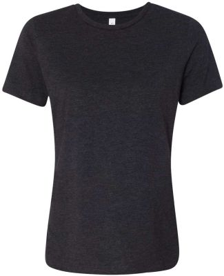 Bella + Canvas 6413 Women's Relaxed Fit Triblend CHAR-BLK TRIBLND