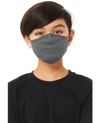 Bella + Canvas TT044Y Youth 2-Ply Reusable Face Ma DEEP HEATHER