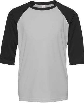 Alo Sport Y3229 Youth Baseball T-Shirt Sport Silver/ Black