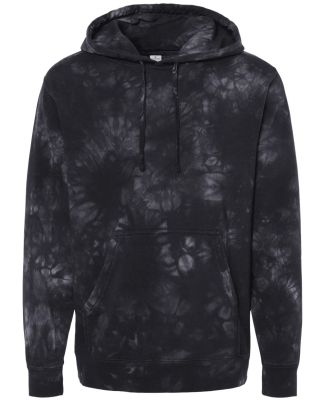 Independent Trading Co. PRM4500TD Midweight Tie-Dy Tie Dye Black