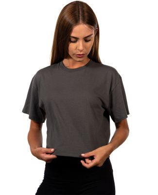 Next Level Apparel 1580 Ladies' Ideal Crop T-Shirt DARK GRAY