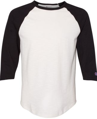 Champion Clothing CP75 Premium Fashion Raglan Thre Chalk White/ Black